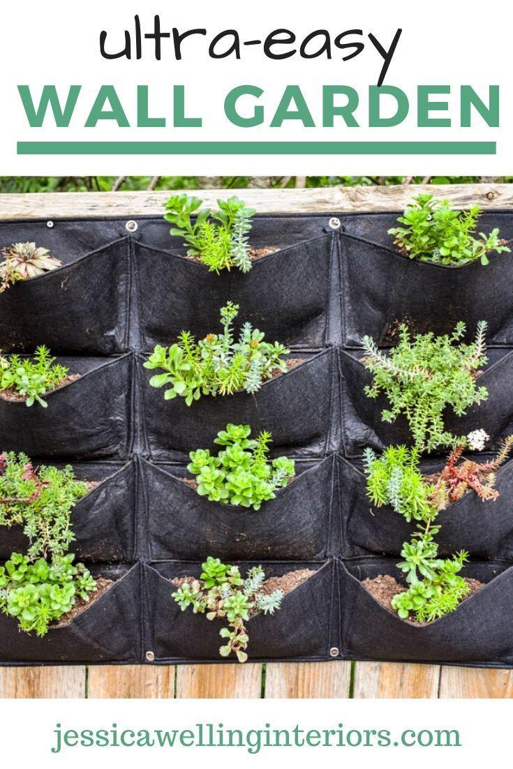 Easiest Vertical Garden Ever Jessica Welling Interiors In 2020 Vertical Garden Diy Vertical Garden Planters Vertical Garden
