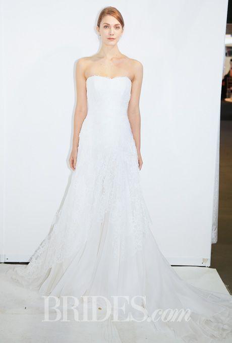 Brides.com: Giuseppe Papini - Spring 2015. Wedding dress by Giuseppe Papini