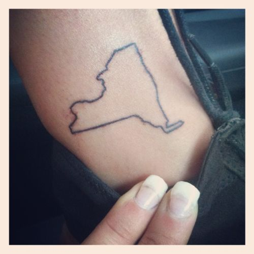 29 best images about new york tattoos on pinterest for State outline tattoo
