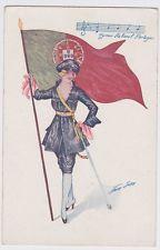 Xavier Sager Hymne National Portugais Series 59 Artist Signed Postcard