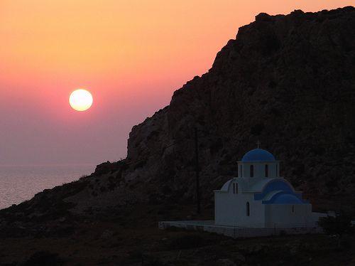 Saint Nicholas Church at Finiki Village in Karpathos Island Greece