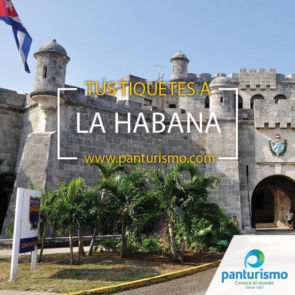 """Compra tus tiquetes en www.panturismo.com para visitar la """"princesa del mar"""" La Habana, una ciudad detenida en el tiempo."""