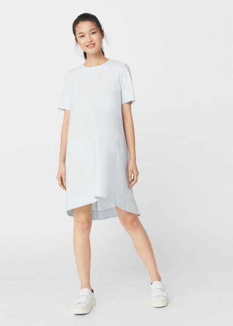 Popelinowa sukienka