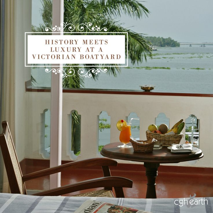 """Little Black Book took a holiday in Brunton Boatyard, out Boutique Hotel in Fort Kochi, and had this to say: """"Nothing comes close to sipping on a glass of bubbly, watching the sun set over the sea with dolphins playing in the fore, and ships finding their way home.""""  We couldn't agree more. #Travel"""