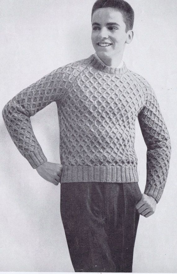 Knitting Pattern For Elvis Jumper : 72 best images about Moda 50 on Pinterest Cold weather, Parlour and 1950s men