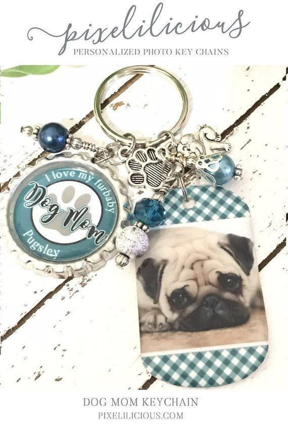 Personalized Gift PET LOVER Fur Babies For Her Photo Key Chain Mothers Day Jewelry Best Friend Birthday Thank You Furbaby Dogmom