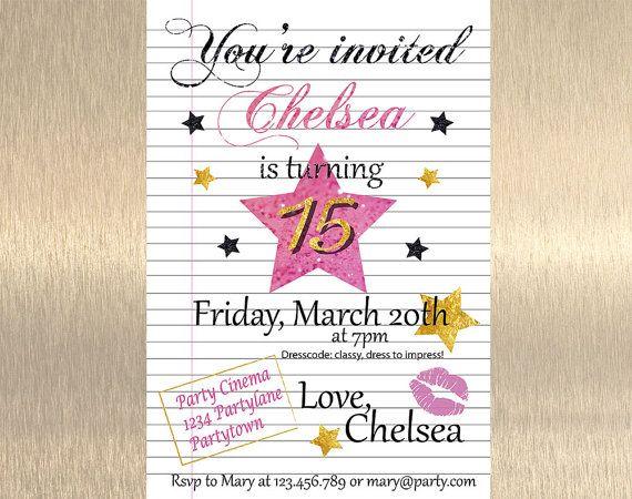 25 bsta Teen birthday invitations iderna p Pinterest