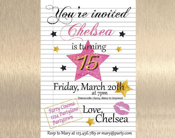 birthday invitations for teenagers