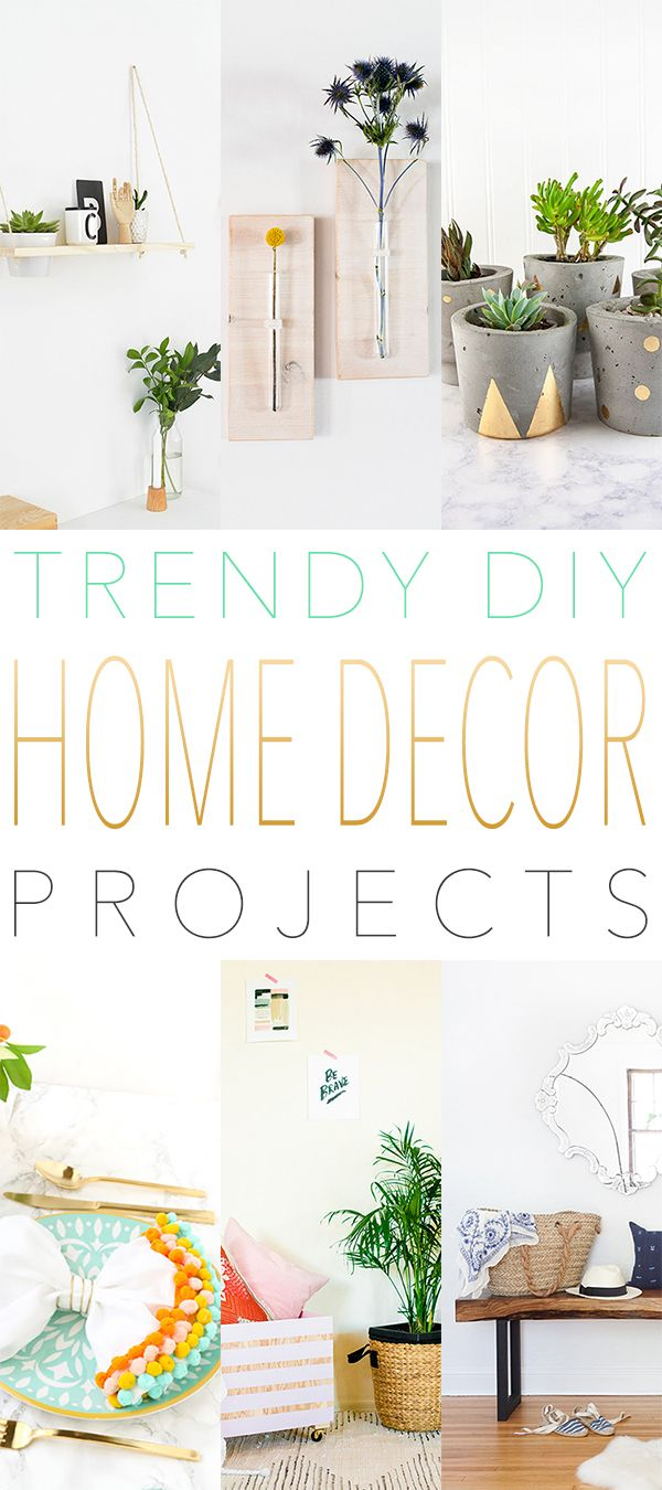 Trendy DIY Home Decor DIY Projects