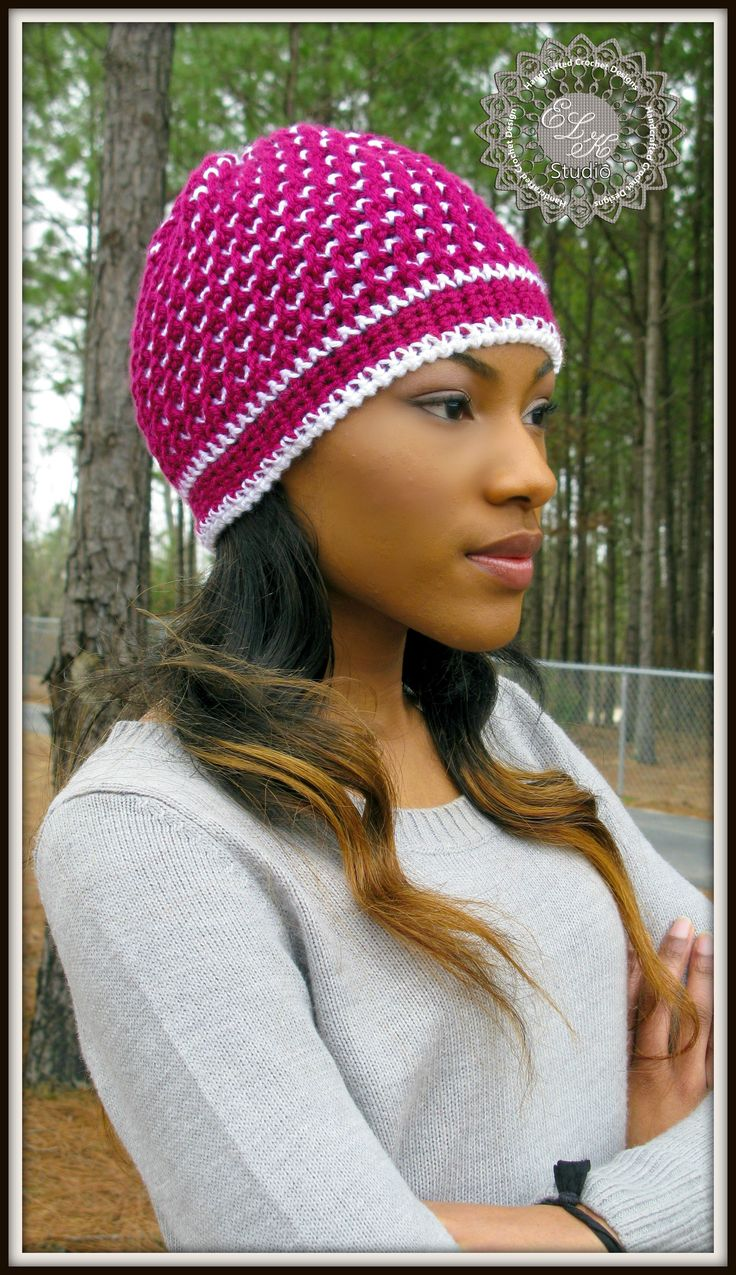 40 best hats knit or crochet images on pinterest knit stitches morning frost a free crochet hat pattern bankloansurffo Choice Image