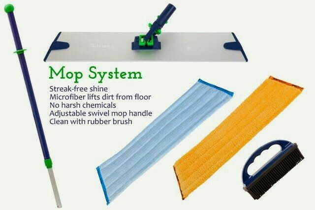Mop system plus brush