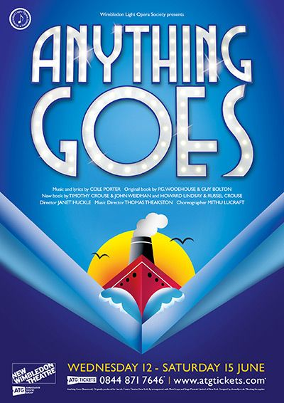 Anything Goes. New Wimbledon Theatre.