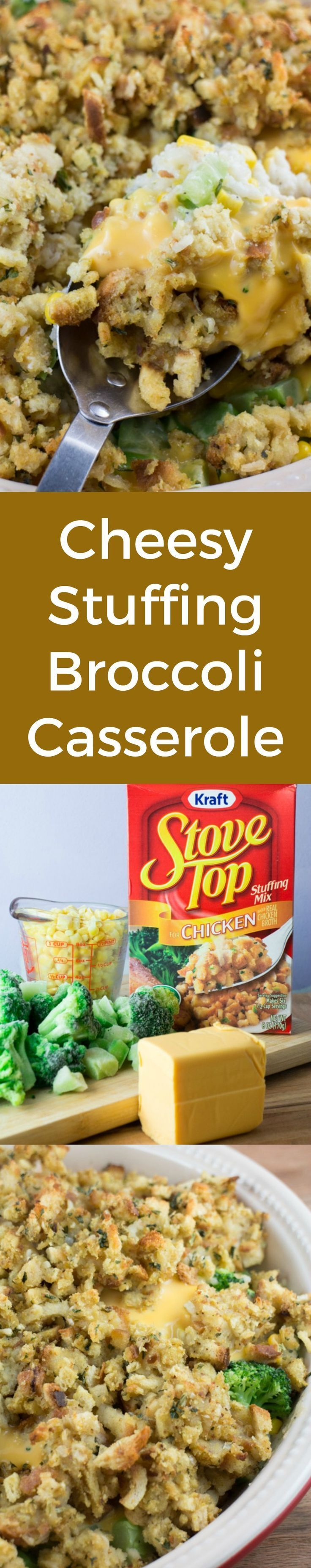 Cheesy Stuffing Broccoli Casserole is a delicious easy to make casserole recipe.    This is perfect for a Christmas or Thanksgiving side dish too!