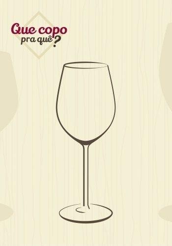 Taça vinho branco: a taça é menos longa do que a de vinho tinto, pois o vinho branco deve ser consumido gelado e em um recipiente menor, que permita o mínimo de trocas de calor com o ambiente. A boca estreita faz com que a bebida chegue à língua em bom equilíbrio de doçura e acidez, ponto importante para a apreciação