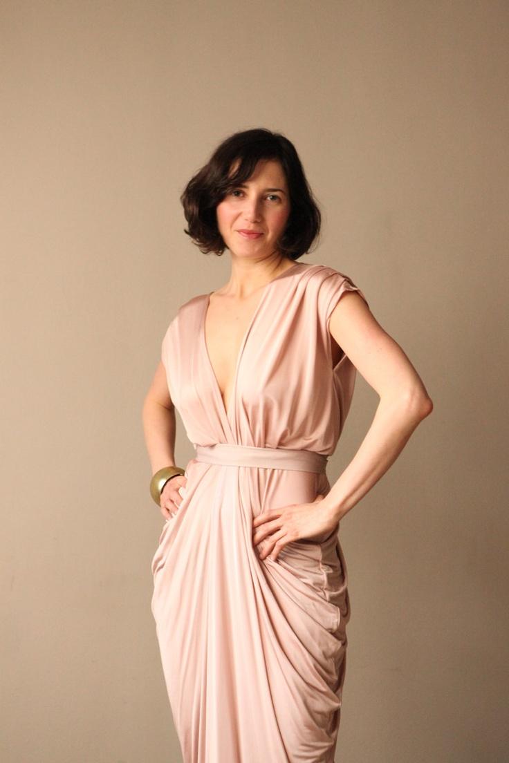 Pink Champagne  Bridesmaid Dress Prom Dress