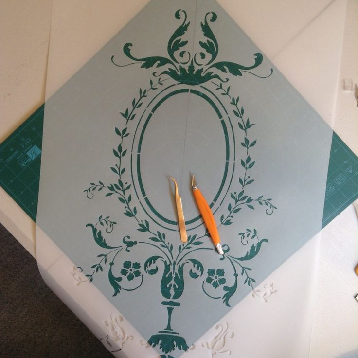 French Baroque Chasuble Front Stencil Update and My Feathered Overlords