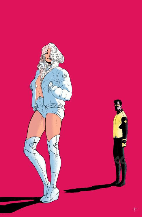 Emma Frost & Cyclops by Artyom Topilin