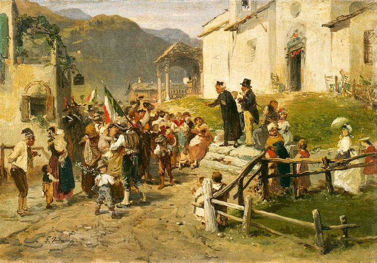 Gerolamo Induno - La Partenza dei volontari nel 1866