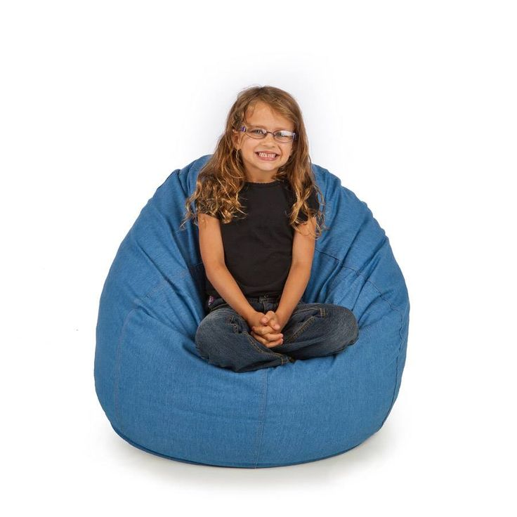 Our Durable Denim Bean Bags Include Fully Washable Covers And Come In Small Large Sizes With Royal Mix Bag Fill