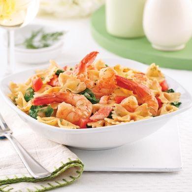 Pâtes au crabe et crevettes - Soupers de semaine - Recettes 5-15…