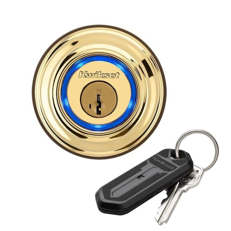 Deadbolt lock opens electronically with fob, or using your smartphone. Extra fobs available.