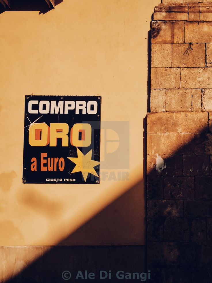 """""""I buy GOLD for Euro star"""" by Ale Di Gangi - £10"""