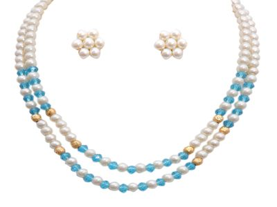 Classique Designer Jewellery Alloy Multi-Strand Necklace  Women (White) Necklaces and Necklace Sets on Shimply.com