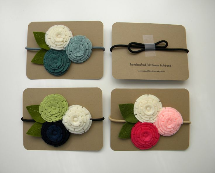 DIY headband cards - perfect! tape the back