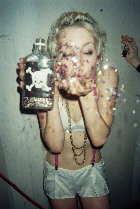 Go insane! Go insane! Throw some Glitter, make it rain
