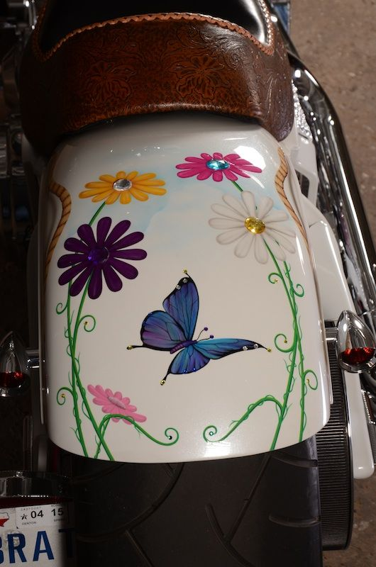your motorcycles susan barnett's daisy bike rear fender