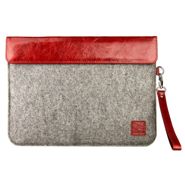 """Red felt sleeve for 10"""" tablets"""