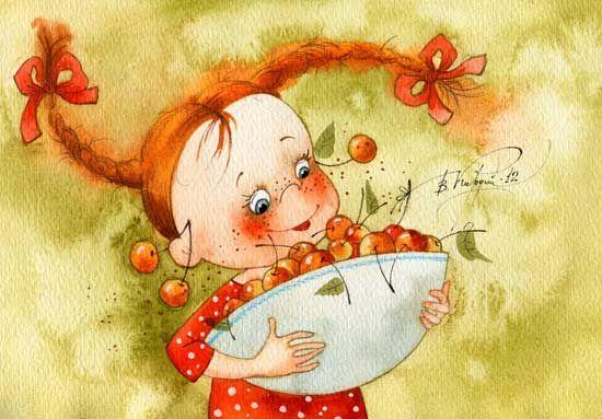 A bowl of cherries - Vika Kirdiy