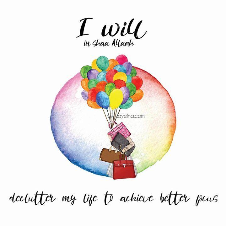 02: I will in shaa Allah declutter to achieve better focus.  #IWILLinshaAllah #PreRamadanProductivityCourse #ProductivityJournalforMuslims