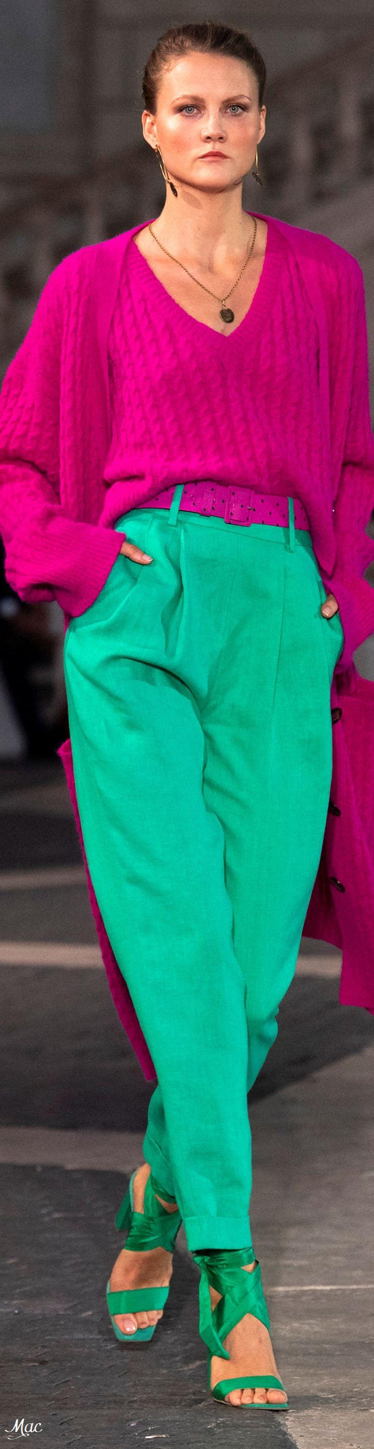 Spring 2021 RTW Laura Biagiotti | Rose et vert, Pulls ...