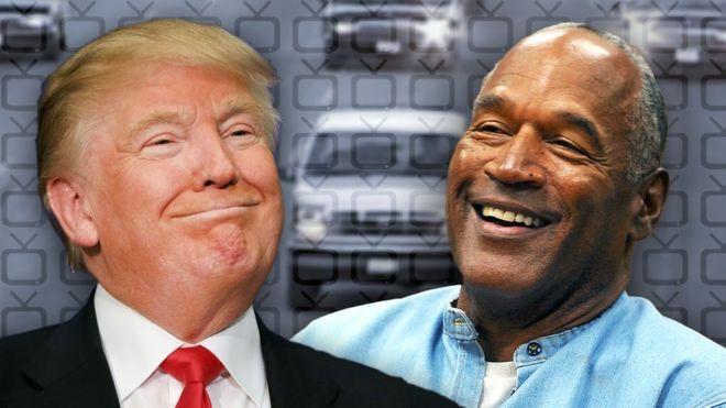 OJ Simpson and Donald Trump in a composite