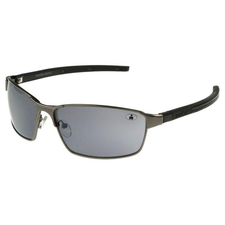 Men's Ironman Full Frame Scratch and Impact Resistant Metal Performance Sunglasses - Dark Gun Metal, Black