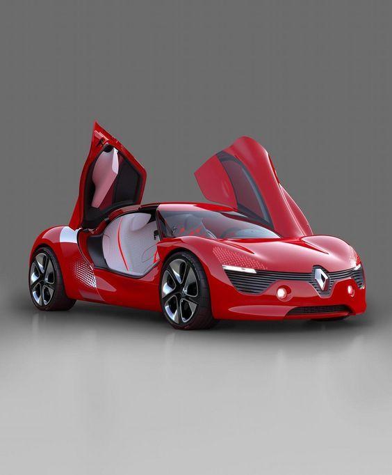 Concept Cars! ''2017 Renault DeZir electric two seater coupé concept'' 2017 Renault DeZir Prototype''
