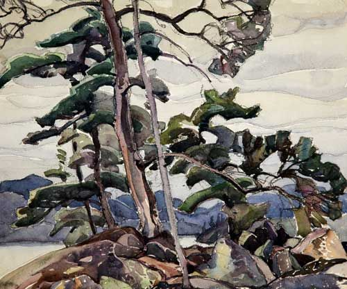 Franklin Carmichael, Untitled (Jack Pine Trees), 1940. From the University of Lethbridge Art Collection. Gift of an anonymous donor, 2002.