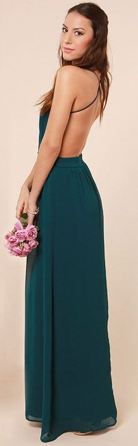 LULUS Exclusive Rooftop Garden Backless Dark Teal Maxi Dress. Get it today with 7% cash back http://studentrate.com/itp/get-itp-student-deals/LuLu-s-Student-Discount--/0