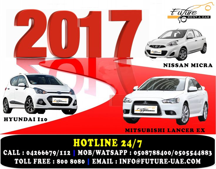 Tomorrow is the first blank page of the of 365 page book. Write a good one. Future Car Rentals offering promotion from 25th Dec to 31 of January 2016 on all cars. Hire a car from Future Car Rentals and drive like your own and visit all the beautiful places in UAE. For More Information Call : 042677789/112 Mobile/WatsApp : 0508788400 / 0505544883 (24/7) Toll Free : 800 8080 Email : info@future-uae.com #dubai #mydubai #car4rent #rentacardubai #carforrentdubai #dubaicarrentals #carrentalsuae…