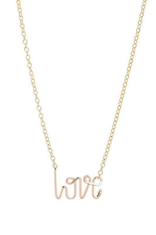 By Philippe Halskette Love gold. www.styleserver.de