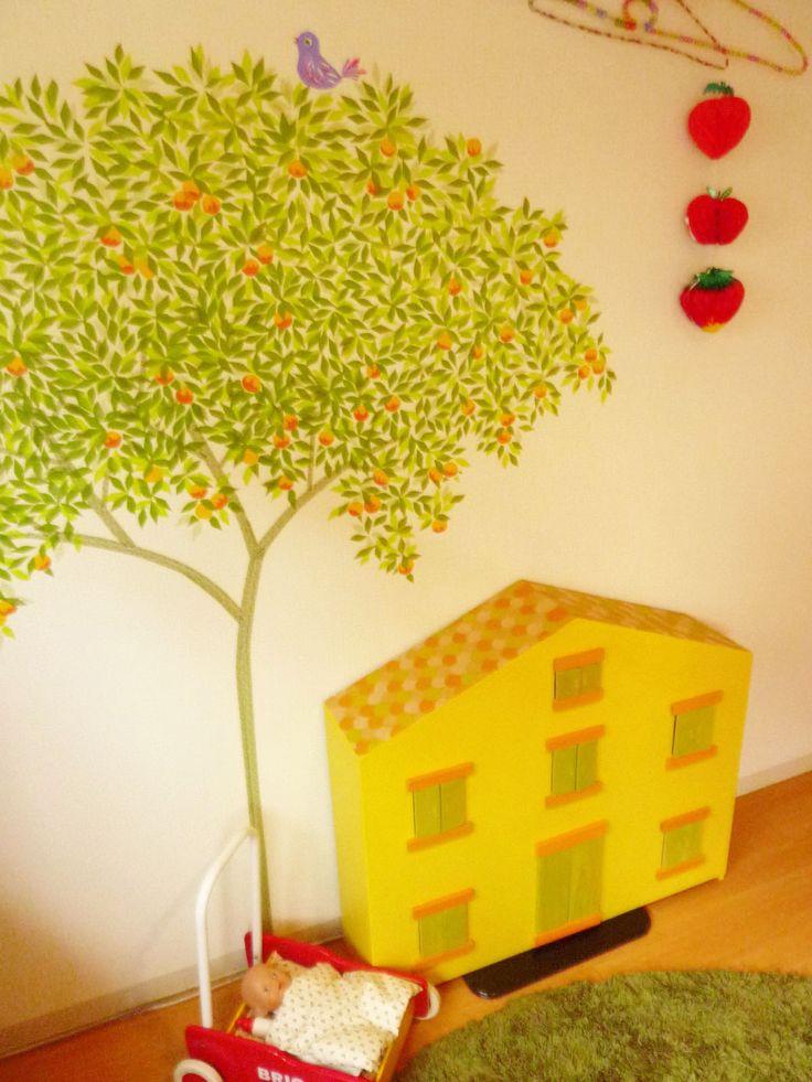 orange tree (masking tape or washi tape)