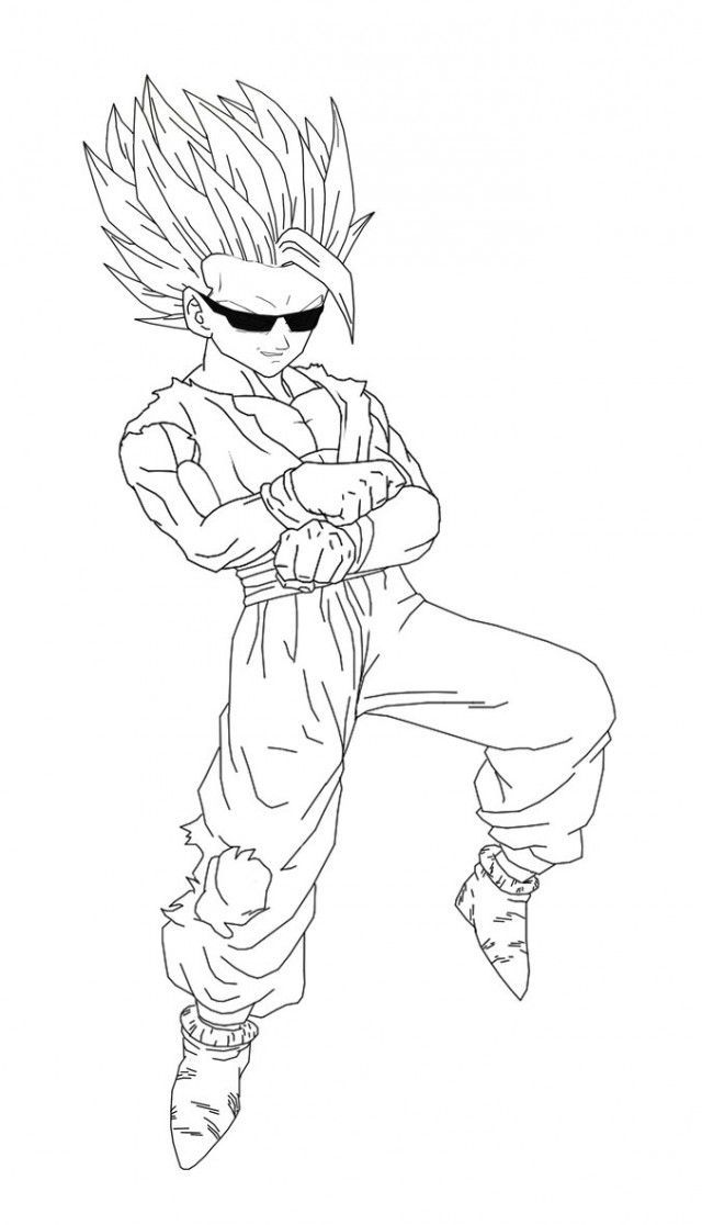 Download Or Print This Amazing Coloring Page Gohan Coloring Pages Gohan Super Saiyan 4 Coloring Pages Kids Coloring Pages Dragon Ball Z Super Saiyan