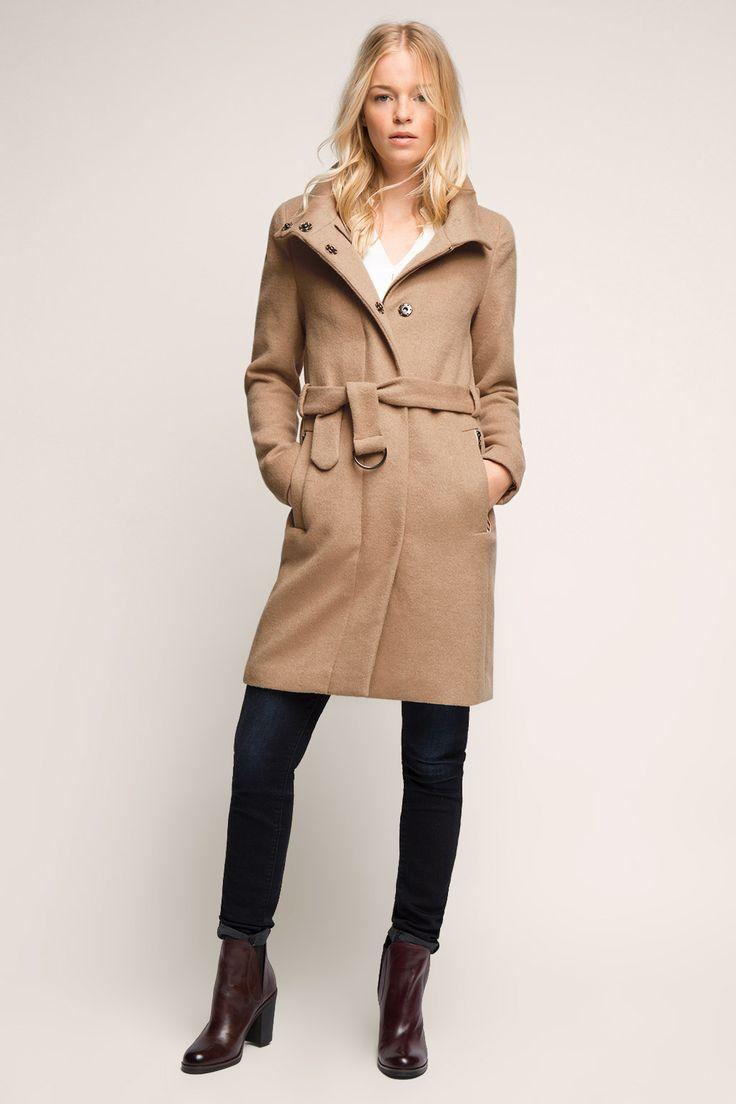 Esprit / Vlněný kabát se stojáčkem