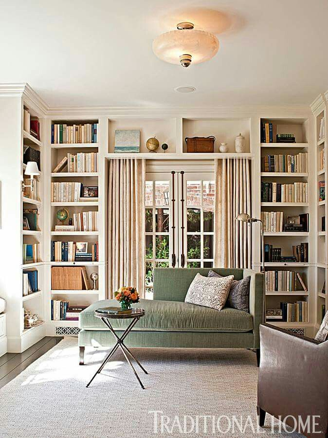 Painted Bookcases Surrounding The Room. Part 96