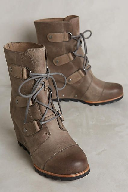 Sorel Joan of Arctic Wedge Ankle Boots - anthropologie.com