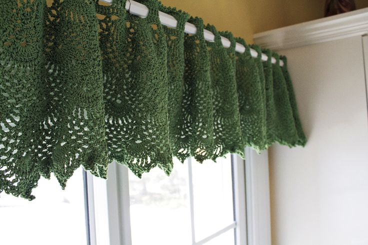 Free Crochet Patterns For Curtains And Valances : 1000+ ideas about Crochet Curtain Pattern on Pinterest ...