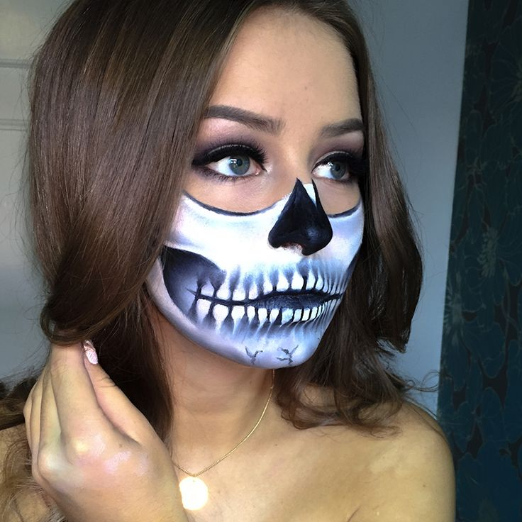 Halloween: Half Skull Tutorial! - eleven.no
