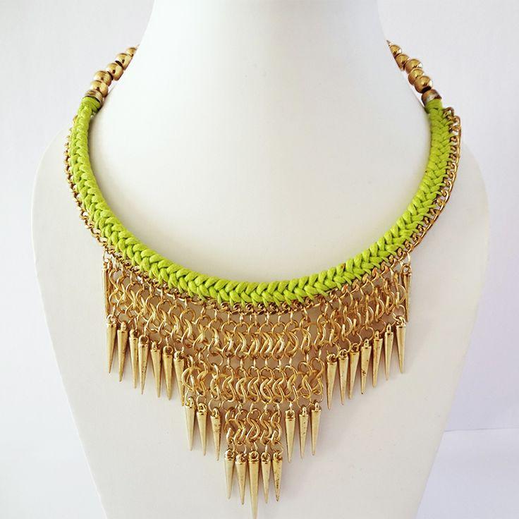 Spiked Bib necklace by Chobhi