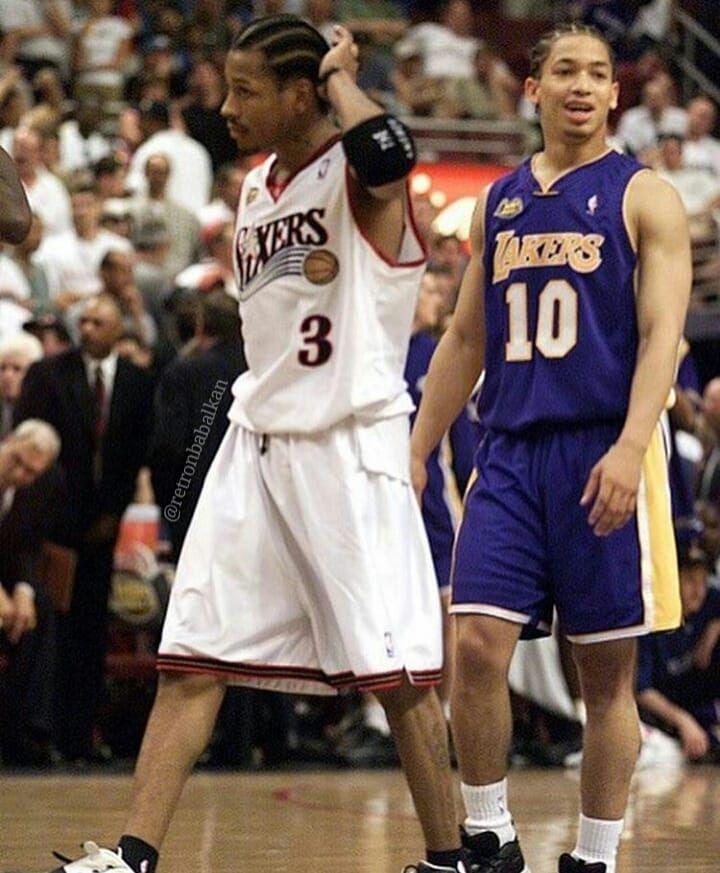 (2001)  Alen Ajverson i Tajron Lu u finalu  #retronbabalkan #retronba #nba #kosarka #basketball #alleniverson #iverson #theanswer #tyronnlue #philadelphia #sixers #philly #la #losangeles #lakers #lalakers #lakernation #cleveland #cavaliers #finals #2001